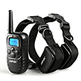 AGPtek® 330 Yard Rechargeable LCD Shock & Vibrate Remote Dog Training Collar for 2 Dogs
