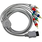Fosmon Nintendo Wii & Wii U Component HD AV Cable to HDTV / LED TV (Support HD 480 x 2000) - 1.8M - Fosmon Retail Packaging