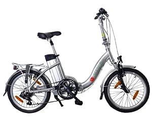 AsVIVA Electrofahrrad E-Bike 36V Power Pedelec Klapprad, Silber, 20 Zoll, B7