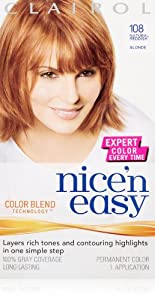 Clairol Nice 'N Easy Hair Color 108 Natural Reddish Blonde 1 Kit (Pack of 3)