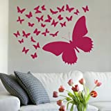 Lovley Butterfly Wall Transfer / Giant Removable Transfer / Huge Interior RA96