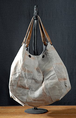 handmade-waxed-large-gray-cotton-tote-bag-canvas-shopping-bag-leather-handles-zip-pockets-cotton-lin