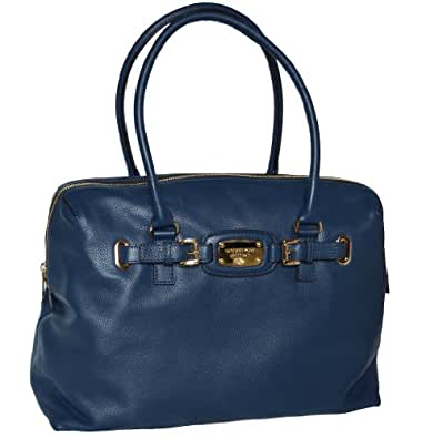 Michael Kors Leather Hamilton Weekender Satchel Tote Handbag Bag