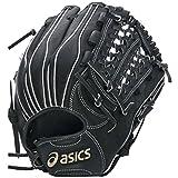 asics(アシックス) 野球 ジュニア軟式用グローブ(内野手用) ゴールドステージ BGJ5LH ブラック/ホワイト LH