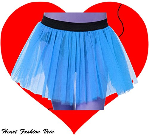 Blue Plus Size Tutu Skirt 3 Puffy Layers Length 15