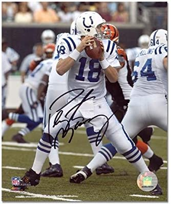 "Peyton Manning Indianapolis Colts Autographed 8"" x 10"" Both Hands on Ball Photograph - Fanatics Authentic Certified"