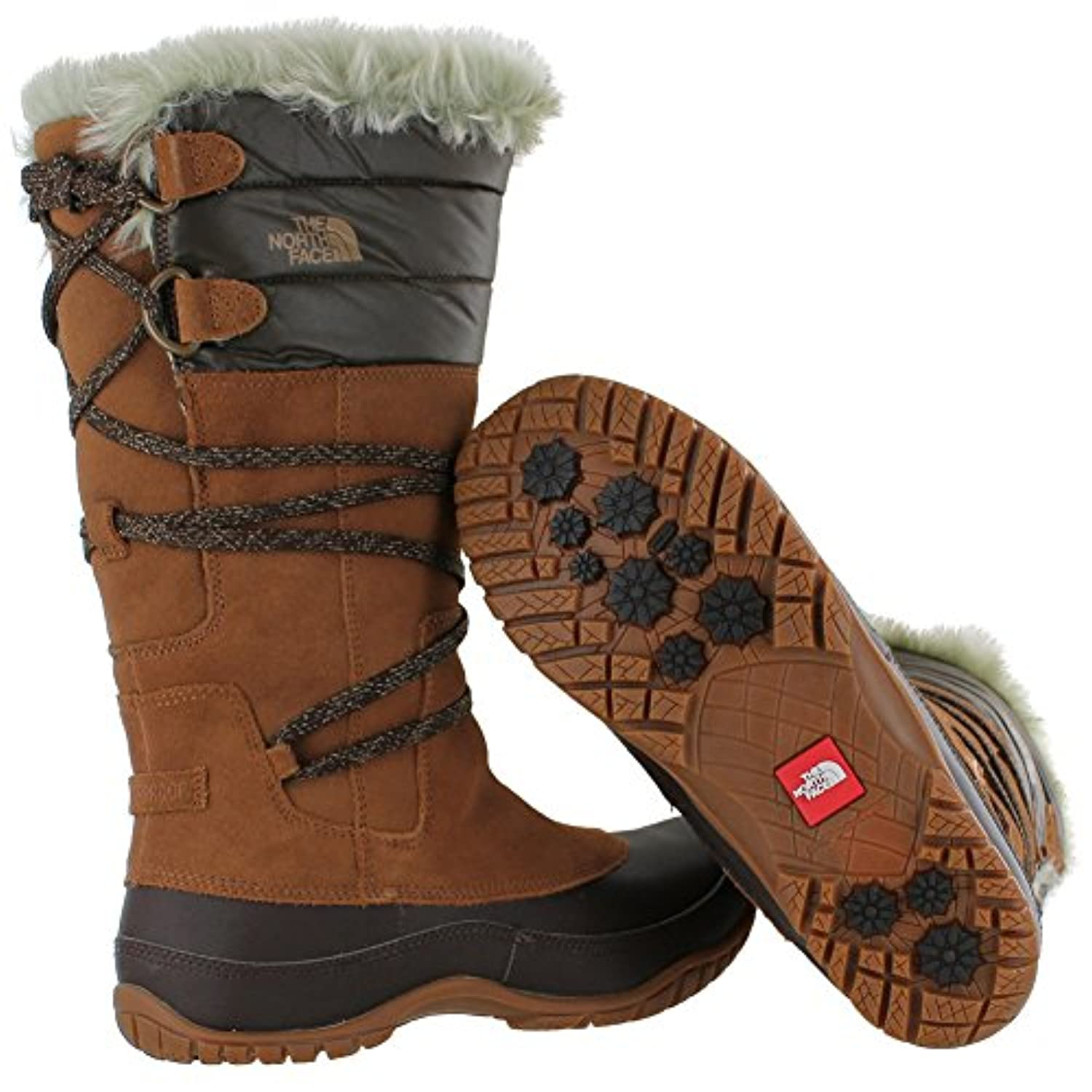 THE NORTH FACE JOZIE PURNA DACHSHUND BRN/SHINY DEMIT BRN WOMENS WATERPROOF BOOTS Size 7M