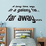 Star Wars - A long Time Ago - Wall Decal Art Sticker boy's bedroom playroom hall (Small)