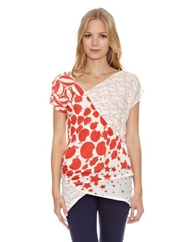 Fornarina Camiseta Martha-Red Rayon T-Shirt Rojo