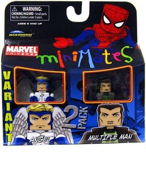 Picture of Art Asylum Marvel Minimates Series 31 Mini Figure 2Pack Angel & Multiple Man (B00354OZSG) (Marvel Action Figures)