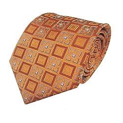 Rossini Men's Tie (UFAM89_Yellow_Free Size)