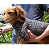 Lena's Cozy Brioche Miniature Dachshund Dog Sweater Knitting Pattern
