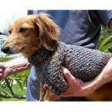 Lena's Cozy Brioche Miniature Dachshund Dog Sweater Knitting Pattern