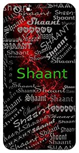 Shaant (Peace And Calm) Name & Sign Printed All over customize & Personalized!! Protective back cover for your Smart Phone : Samsung Galaxy A-3