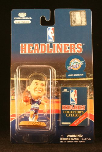 JOHN STOCKTON / UTAH JAZZ * 3 INCH * 1997 NBA Headliners Basketball Collector Figure - 1