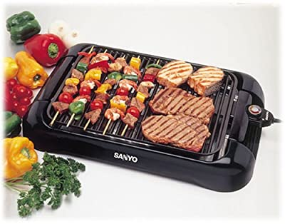 Sanyo HPS-SG3 200-Square-Inch Electric Indoor Barbeque Grill, Black by Sanyo Fisher