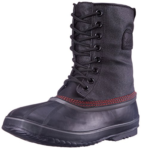 Sorel 1964 Premium T Cvs - Stivali da Neve Uomo, Nero (Black/Sail Red 012Black/Sail Red 012), 42.5 EU