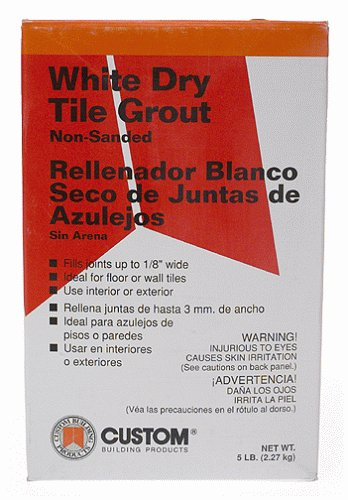Custom Building Product WDG5  5 lb Non-Sanded White Tile Grout (Custom Building Products Sealer compare prices)