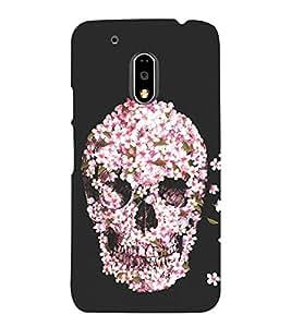 Flower Skull 3D Hard Polycarbonate Designer Back Case Cover for Motorola Moto G4 Plus :: Moto G4+
