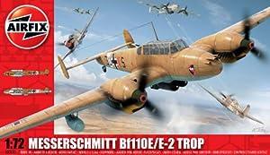 Airfix A03081 Messerschmitt Bf110E 1:72 Scale Military Aircraft Series 3 Model Kit by Hornby