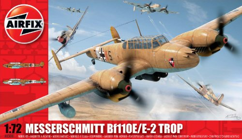 Airfix A03081 Messerschmitt Bf110E 1:72 Scale Military Aircraft Series 3 Model Kit