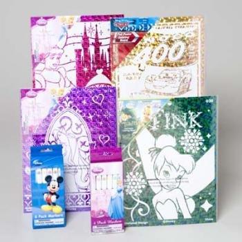 Disney Foil Poster Art Board and Markers Display 