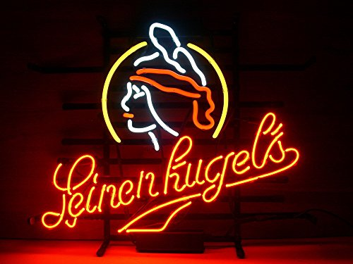 "New Leinenkugels Neon Light Sign Home Beer Bar Pub Recreation Room Game Room Windows Garage Wall Sign 17w""x 14""h"