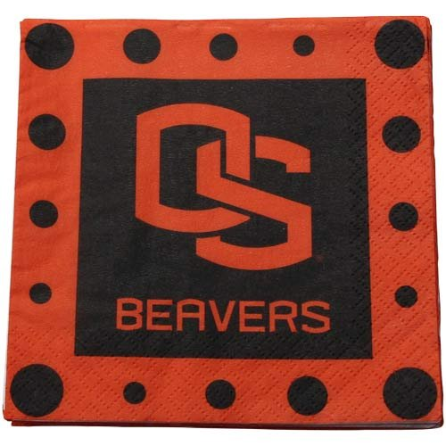 NCAA Oregon State Beavers 16-Pack Beverage Napkins - 1