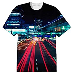 Snoogg City Quick Mens Casual All Over Printed T Shirts Tees