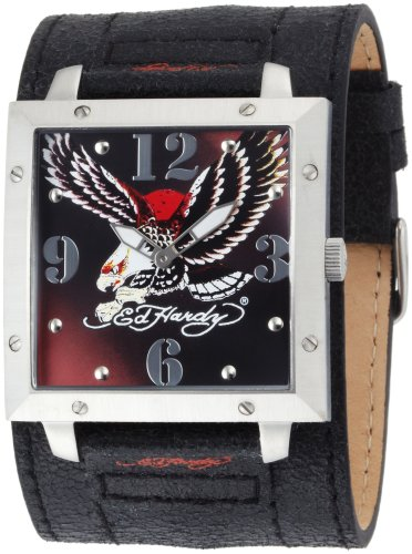 Ed Hardy Men's WA-EL Warrior Eagle Stainless Steel 316L Watch