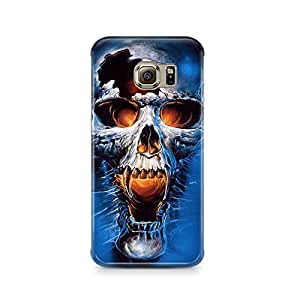 Motivatebox - Samsung S6 Back Cover - Devil Skull Polycarbonate 3D Hard case protective back cover. Premium Quality designer Printed 3D Matte finish hard case back cover.