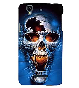 PRINTSWAG SKULL Designer Back Cover Case for MICROMAX YU YUREKA PLUS