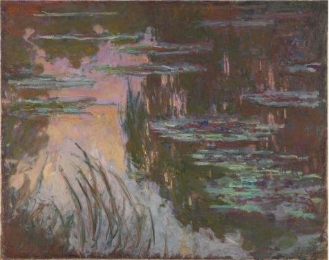 Perfect Effect Canvas ,the Cheap But High Quality Art Decorative Art Decorative Prints On Canvas Of Oil Painting 'Water-Lilies, Setting Sun 1907 By Claude Monet', 10x13 Inch / 25x32 Cm Is Best For Home Office Decor And Home Decor And Gifts