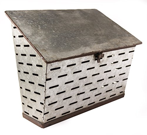 Galvanized Metal Antique Milk Delivery Box Post MailBox - Shabby Chic Décor (Vintage Mailbox Wall Mount compare prices)