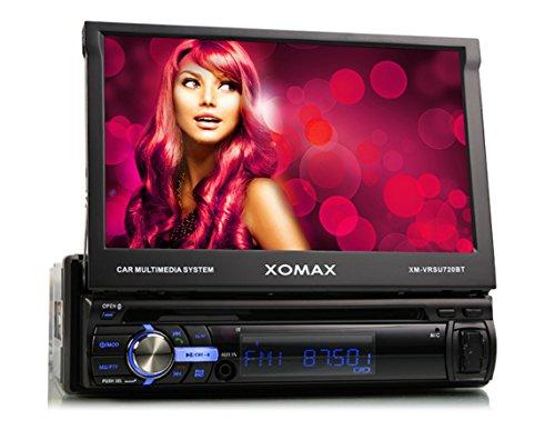 XOMAX-XM-VRSU720BT-AutoradioMoniceiver-mit-Bluetooth-Freisprecheinrichtung-718cm-Touchscreen-Display-USB-Anschluss-bis-128-GB-und-SD-Kartenslot-bis-128-GB-fr-MP3-WMA-AVI-DIVX-MPEG4-etc-3-Beleuchtungsf
