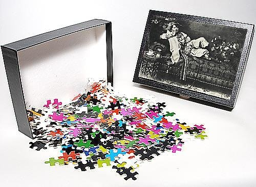 Photo Jigsaw Puzzle Of Turkish Lady On A Settee Smoking
