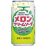 富永食品 メロンクリームソーダ 350ml×24本