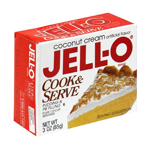Buy Jell-O Cook & Serve Pudding & Pie Filling, Coconut, 3-Ounce Boxes (Pack of 24) (JELL-O, Health & Personal Care, Products, Food & Snacks, Baking Supplies, Pie & Cobbler Fillings)