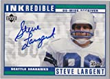 Steve Largent Autographed signed Upper Deck card Seattle Seahawks at Amazon.com