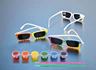 Tint N' Color Rearview Spy Sunglasses,Creative DIY Toys For Children, Party Activity Pack of 6