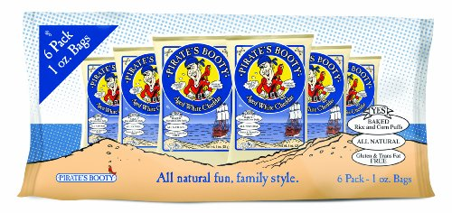 Pirate's Booty, Aged White Cheddar, Multi-Pack, 1-Ounce Bags (Pack of 72)