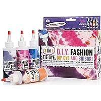 NPW-USA INC. 3 In 1 Diy Fashion Kit - Tie Dye, Dip Dye & Shibori