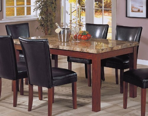 Black friday coaster contemporary style marble top for Dining table deals