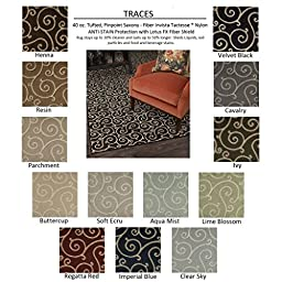 2\'x3\' IVY - TRACES - Custom Carpet Area Rug - 40 Oz. Tufted, Pinpoint Saxony - Nylon by Milliken (13 Colors to Choose From)