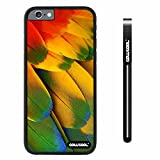 CowCool® Apple iphone 6 4.7 inch Case Hard PC Wings feathers Black Shell Single Layer Protective Case (#13)