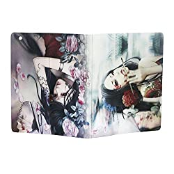 3D Effect Charming Girl Flip Leather Case Cover For Ipad 2/3/4