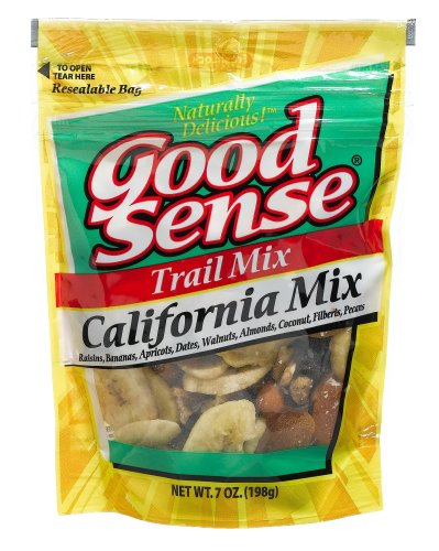 Buy Good Sense Trail Mix, California Mix, 7-Ounce Bags (Pack of 12) (Good Sense, Health & Personal Care, Products, Food & Snacks, Snacks Cookies & Candy, Snack Food, Trail Mix)