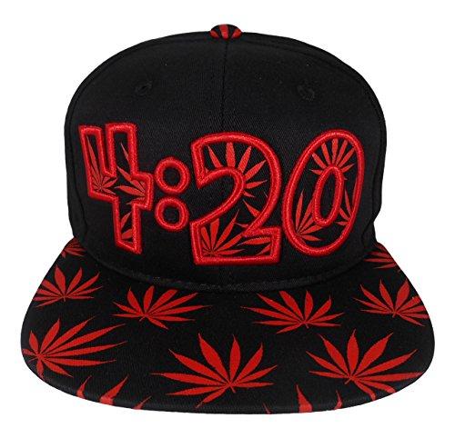 Cap2shoes-Marijuana-Weed-Leaf-Cannabis-Snapback-Hat-Cap-420-Red
