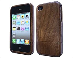 BONAMART ® Handmade Natural Wood Wooden Bamboo Hard Case Cover for iPhone 4 4s