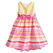Nannette Girls 2-6X Shangtung Printed Dress, Pink, 2T